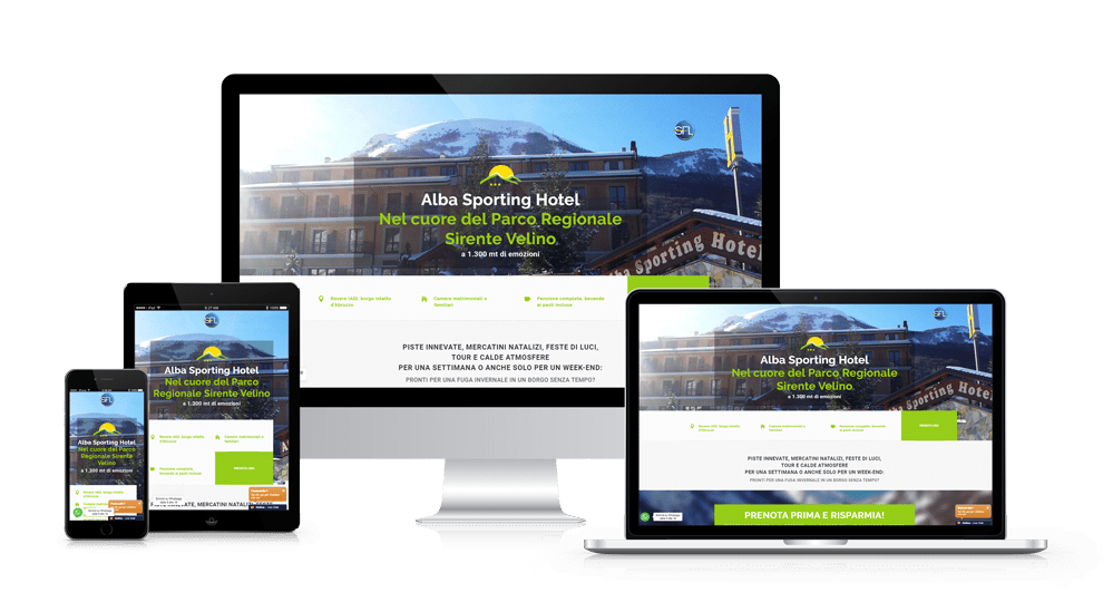 Landing Page Alba Sporting Hotel